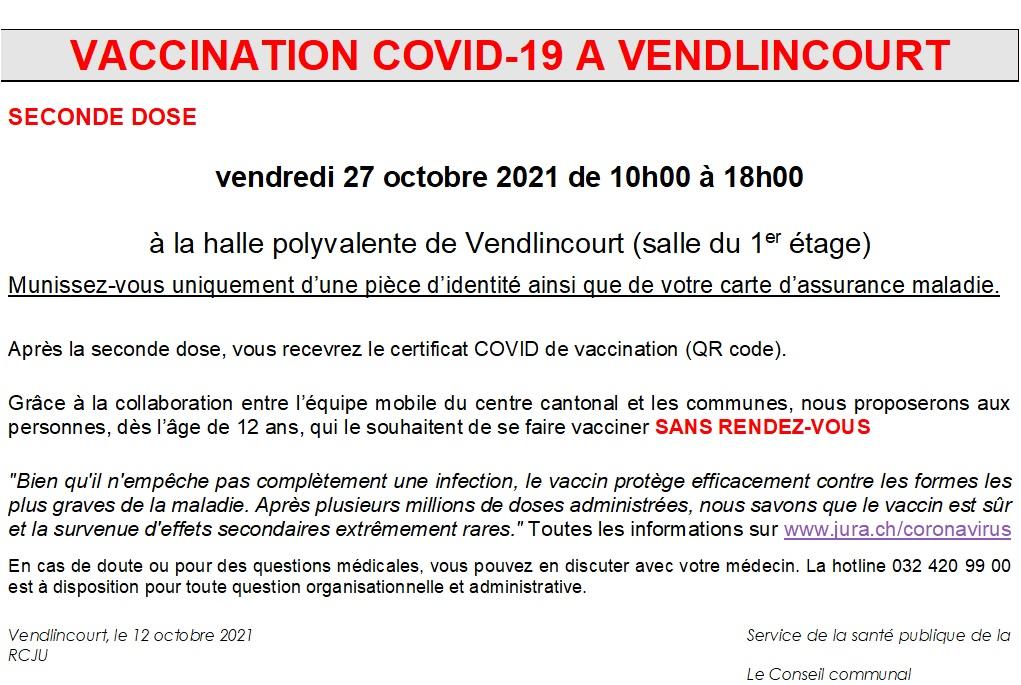 vaccination covid 2ème dose